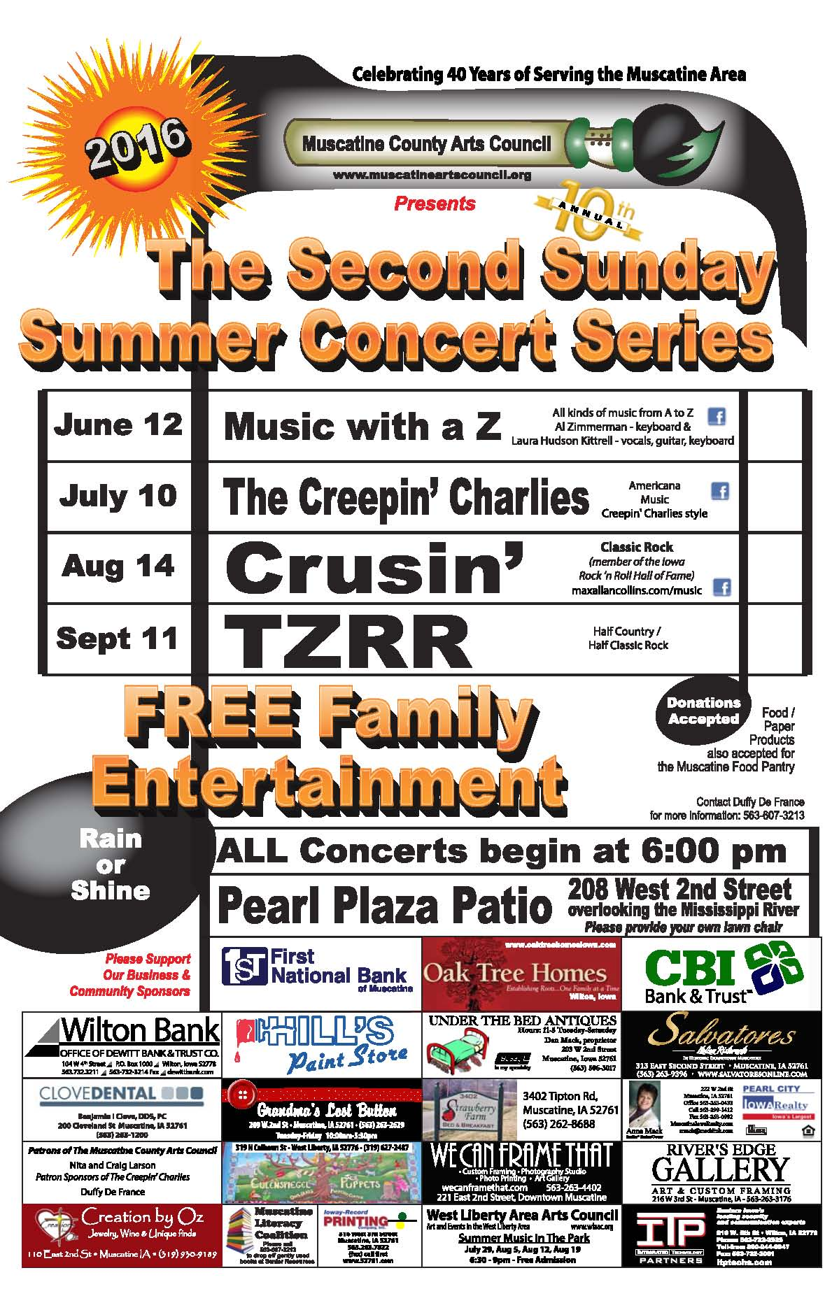 Second Sunday Concert Series @ Pearl Plaza Patio | Muscatine | Iowa | United States