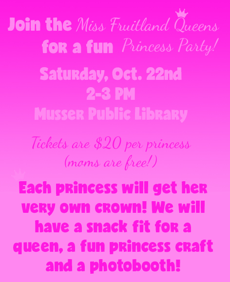 Muscatine Princess Party @ Musser Public Library | Muscatine | Iowa | United States