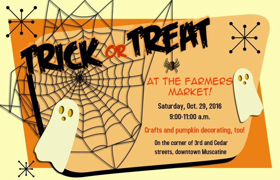 Muscatine Area Farmers Market: Trick or Treat at the Market @ Muscatine Area Farmers Market - 3rd St
